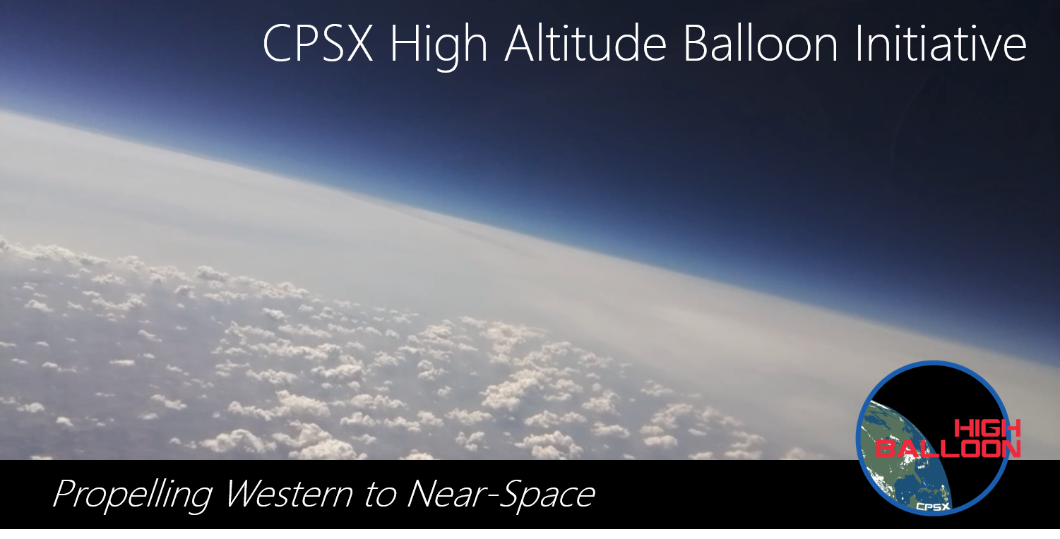 High altitude balloon initiative banner