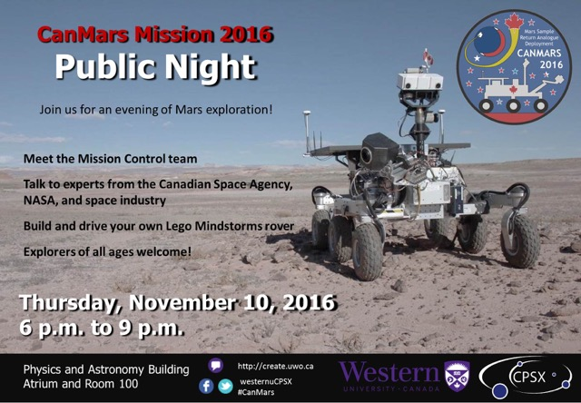 CanMars Public Night Details