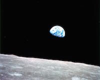 Earth rise as seen from the Moon (NASA)
