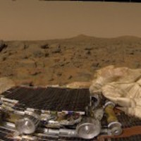 Martian Landscape, Pathfinder camera (NASA)