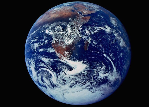 Blue Marble photo of Earth taken during the Apollo 11 mission (NASA).