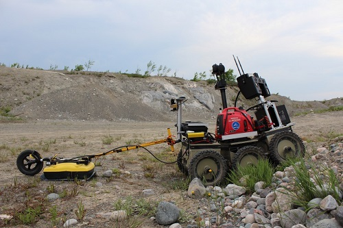 ROC-6 Rover exploring Sudbury Lunar Analogue Site